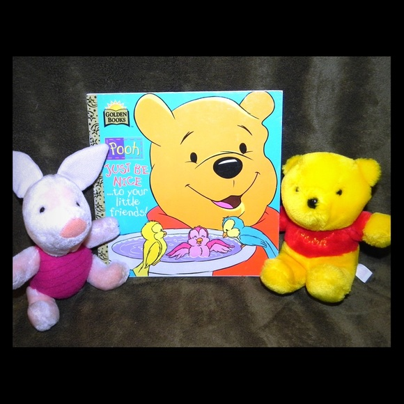 DISNEY Really Sweet POOH and PIGLET 2 Piece Set NWT
